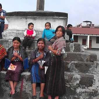 Locals in the square at Santiago Atitlan
