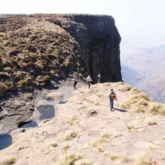 Top of the worlds second highest waterfall, Drakensburg Mountains