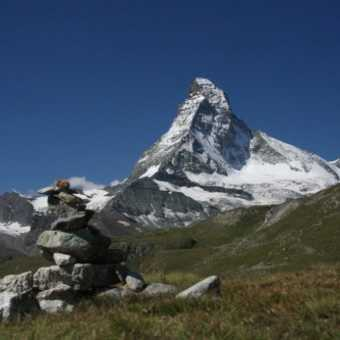 The first real sight of the Matterhorn