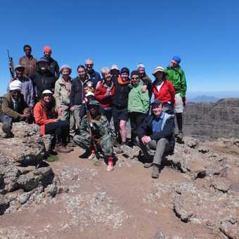 Group on the summit of Ras Dashen.