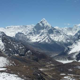 the view after crossing the Cho La Pass