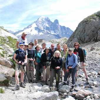 Group photo at Lac Blanc