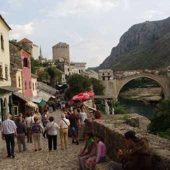 Mostar bridge and river