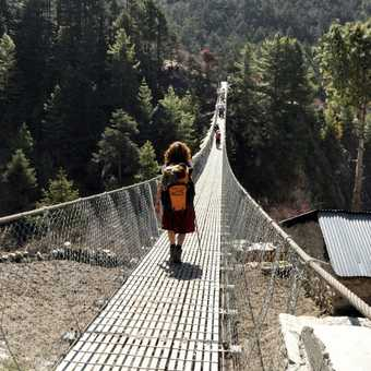 Suspension bridge - one of many !