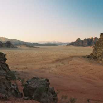 Just after sunset, Wadi Rum
