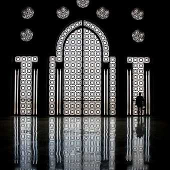 Inside Hassan II mosque