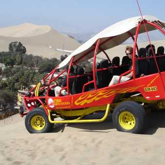 Our transport at Huacachina oasis