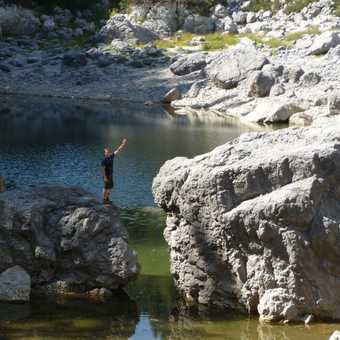 Day 2 - Olly next to the Black Lake