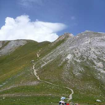 Path to Mont de la Saxe