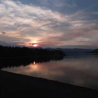 Sunset over Hebgen Lake, West Yellowstone.
