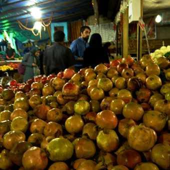 Pomegranate frenzy . . . Shiraz.