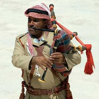 Bagpipes in Jordan