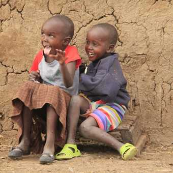 Children at the Maasai Village