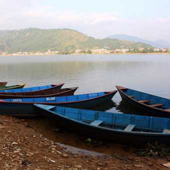 Across the lake from Pokhara