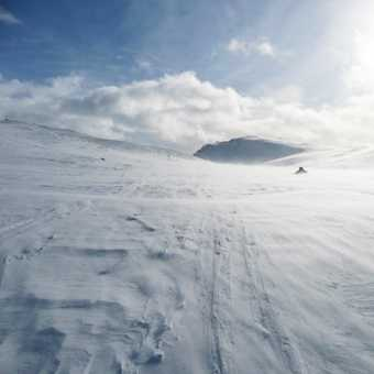 A windy approach to Peer Gynt hut
