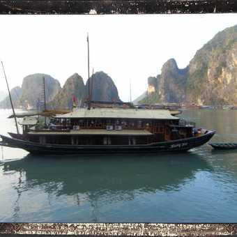 A boat on Halong Bay, Vietnam