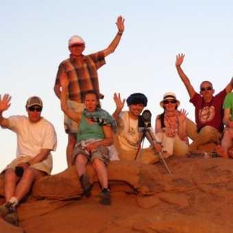 Sunset Group photo, Wadi Rum