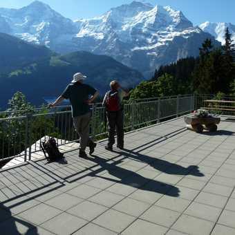 Admiring the views from Grutschalp