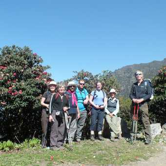 Group on the trek