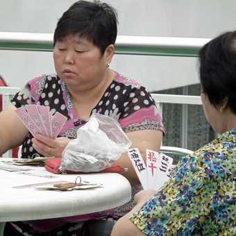 chinese cards on Sunshine China boat on Yangste