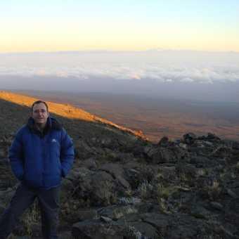 Early morning sun at Mt Mawenzi