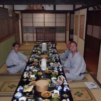 Meal in the ryokan.