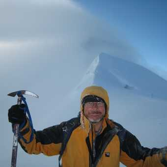 Graham Illing on the descent from Mt Blanc 3rd July 2009