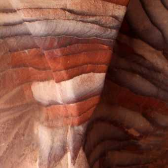 Beautiful colours in the rock formations.