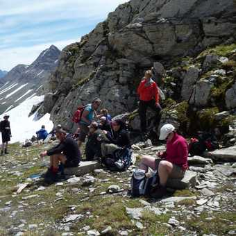 lunch just below Col de la Seigne (leaving Italy, back into France)