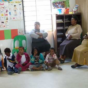 Visiting school in Langa Township, Cape Town
