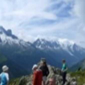 Panoramic view at Aiguilles de Posettes