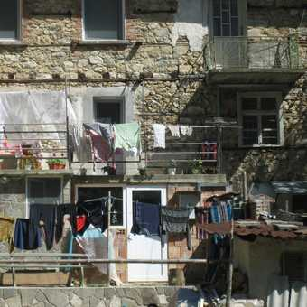 washing in the old village