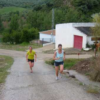 yes, they really are running UP that steep hill!