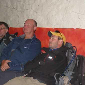 After a hard days ascent