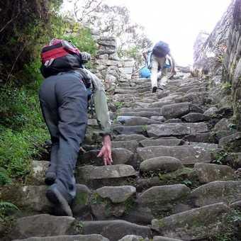 steep steps