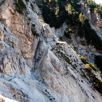 View of Tre Cime di Lavaredo / Drei Zinnen from Monte Piano.