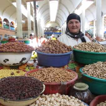 Vendor in Khujand, Tajikistan