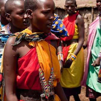 Masai Women, Masai village