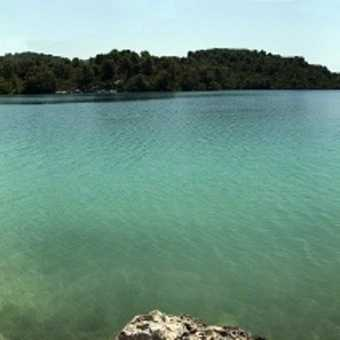 The smaller salt lake on Mljet