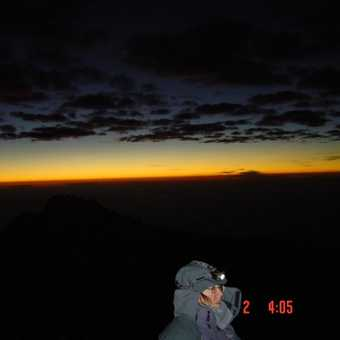Day 5 Sunrise with Mawenzi in the Background