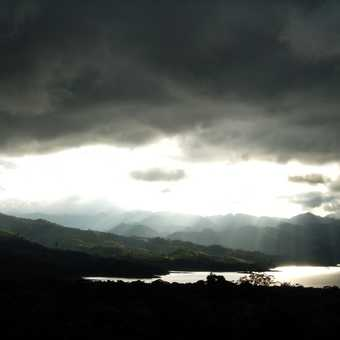 Taken from the 1990s lava field of Lake Arenal.  We didn't get wet.