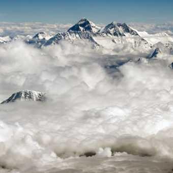 Flying past Mount Everest