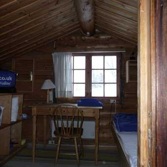The view behind the cabin
