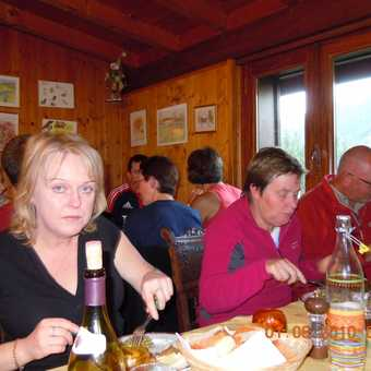All The Trekkers in Chalet Savoy Dining Room (2)