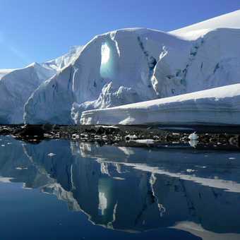 Mirror refelctions at Enterprise Island, Antarctic peninsular