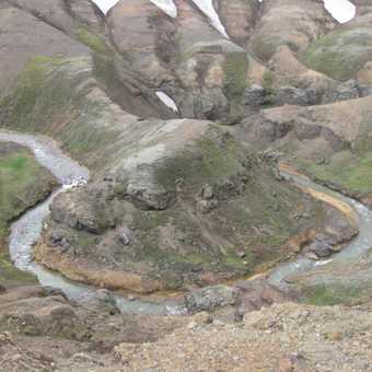 Horseshoe shaped river