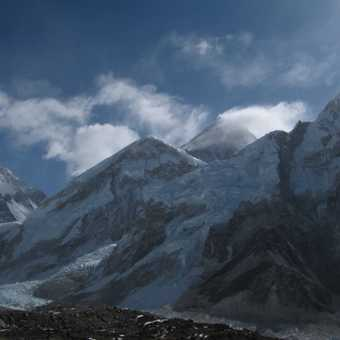 Our first view of Everest's summit