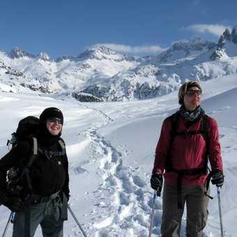 Chloe and Ingrid near Ventosa Refuge