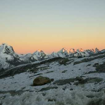 Sunset from high camp.
