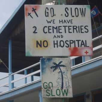 Road sign @ Caya Caulker, Belize
